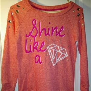 Knitworks Bedazzled Top/Sweatshirt - Size Large